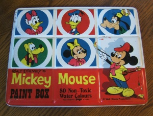 Vintage Disney Paint Box
