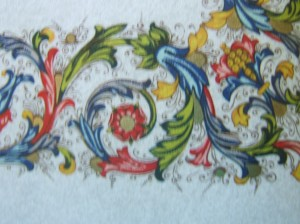 Detail on Parchment Design